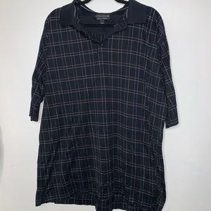 2/$18🔥Mens Cutter & Buck black collard shirt